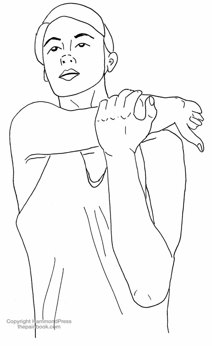You may not realise there are beautiful illustrations in thepainbook.com to help with stretching and exercise. Thanks Shalom Bourne