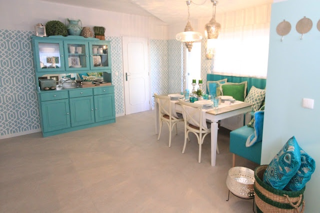 """Project in the portuguese TV Home makeover show """"Querido Mudei a a Casa"""". Decoration by Ana Antunes. Floor Tiles by Margres."""