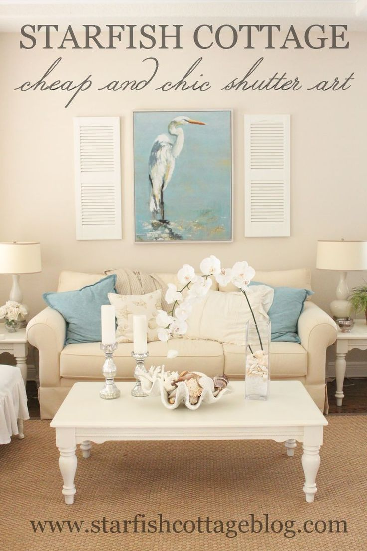 Check out this cheap and chic idea for wall decor...today on Starfish Cottage!