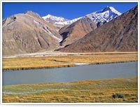 Located west of the Zanskar valley, and fed by the Suru river, Suru Valley is one of the most beautiful regions of Ladakh. It stretches from Kargil town southwards for about 75 kms, then eastward for nearly 65kms to the foot of the Penzi La watershed, from where the Suru river rises.