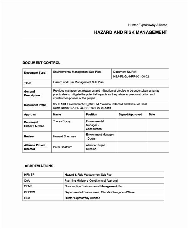 Construction Management Plan Template Fresh 31 Risk Plan Examples Samples Pdf Word Pages Event Planning Quotes How To Plan Event Planner Quotes