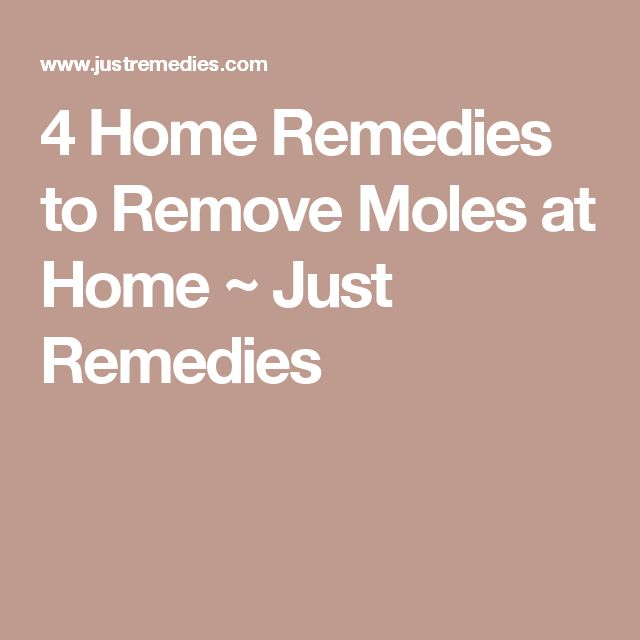 4 Home Remedies to Remove Moles at Home ~ Just Remedies