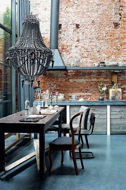25 beste idee n over bakstenen muur slaapkamer op pinterest bakstenen slaapkamer appartement - Interieur decoratie stenen huis ...