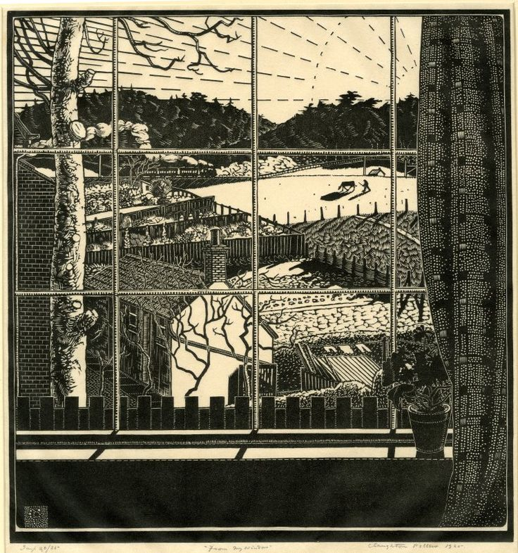 Claughton Pellew From My Window Wood Engraving Look Out The Window Pinterest
