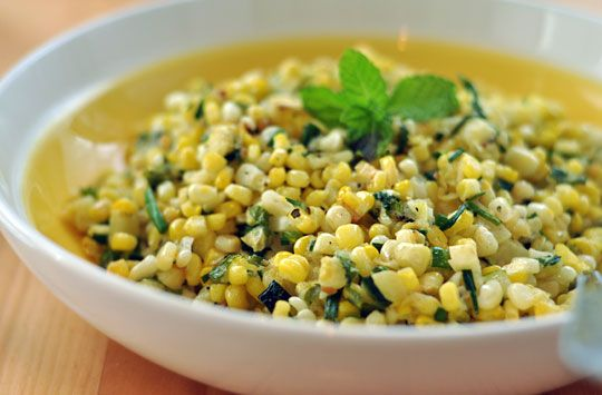 Corn and Zucchini Salad with Chives