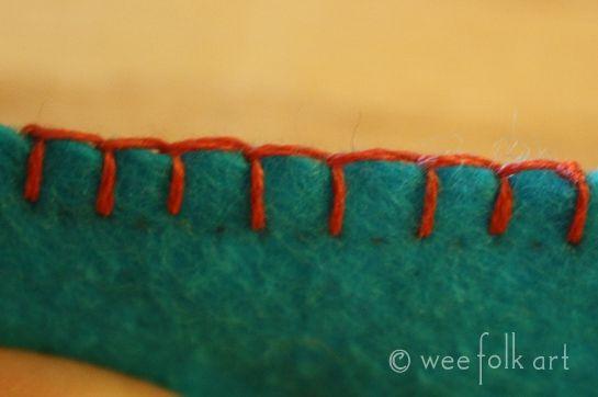 Blanket Stitching - Part 2 - Blanket Stitching a Straight Line | Wee Folk Art