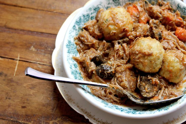 Veal stew with potato dumplings - via Saveur - I love winters in Alaska.  And there are recipes that lead to dinners during Alaska winters that confirm that it is a wonderful time in a wonderful place.  I suspect this could be one of them.