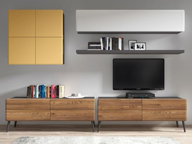 27 best tv wall images on Pinterest Tv walls, Design interiors and - meuble tv home cinema integre watts