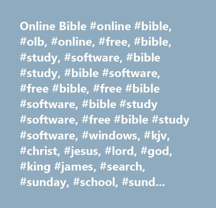 25+ Best Ideas About Free Bible Software On Pinterest | Free