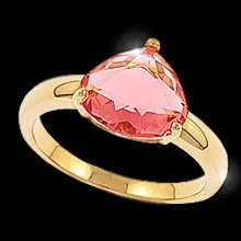 """""""Crackling Rose""""  $49.99 CAD -   The stunning beauty of a sun drenched summer rose, the colour of fine sparkling wine is captured in this romantic ring.    The latest cut and colour found in this beautiful cubic zirconia is selected to be the rage of the coming fashion season. Finished in gold, """"Crackling Rose"""" is the perfect accessory to add extra sensation to your style!  Nickel and Lead Free  Size 8"""