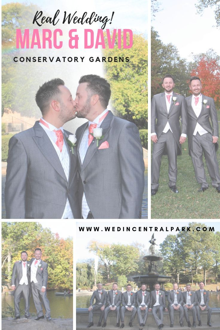 Marc And David S Autumn Conservatory Gardens Wedding Central