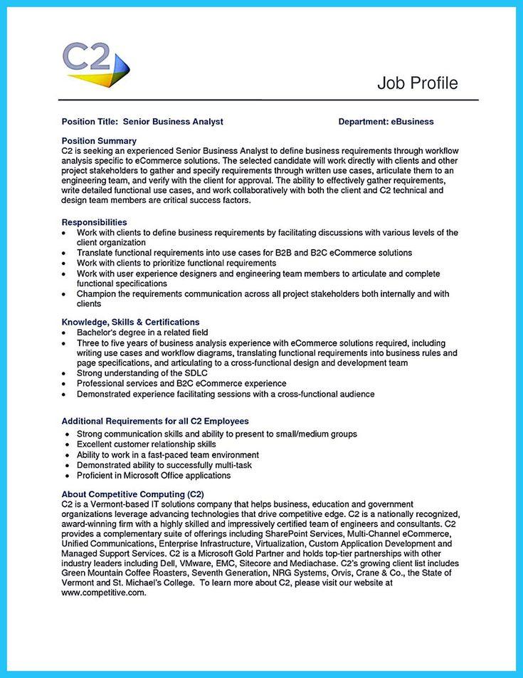 nice Best Secrets about Creating Effective Business Systems - business analyst job description