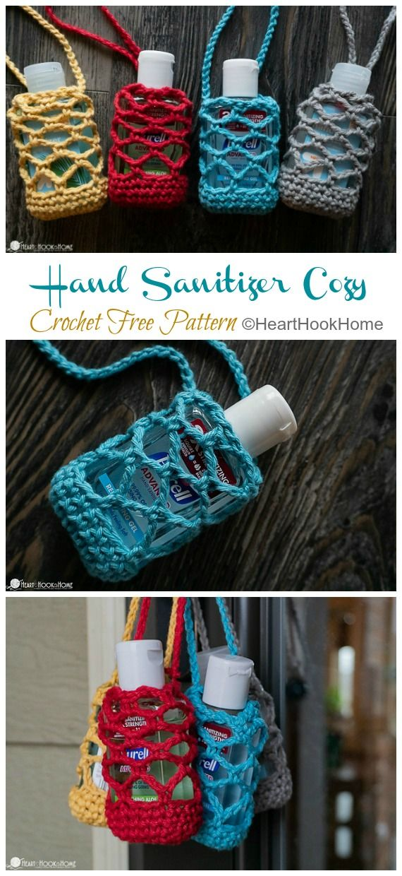Hand Sanitizer Cozy Crochet Free Patterns In 2020 With Images