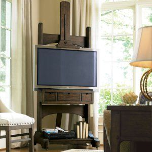 Great Rooms Media Easel TV Stand - Whiskey Barrel - TV Stands at Hayneedle