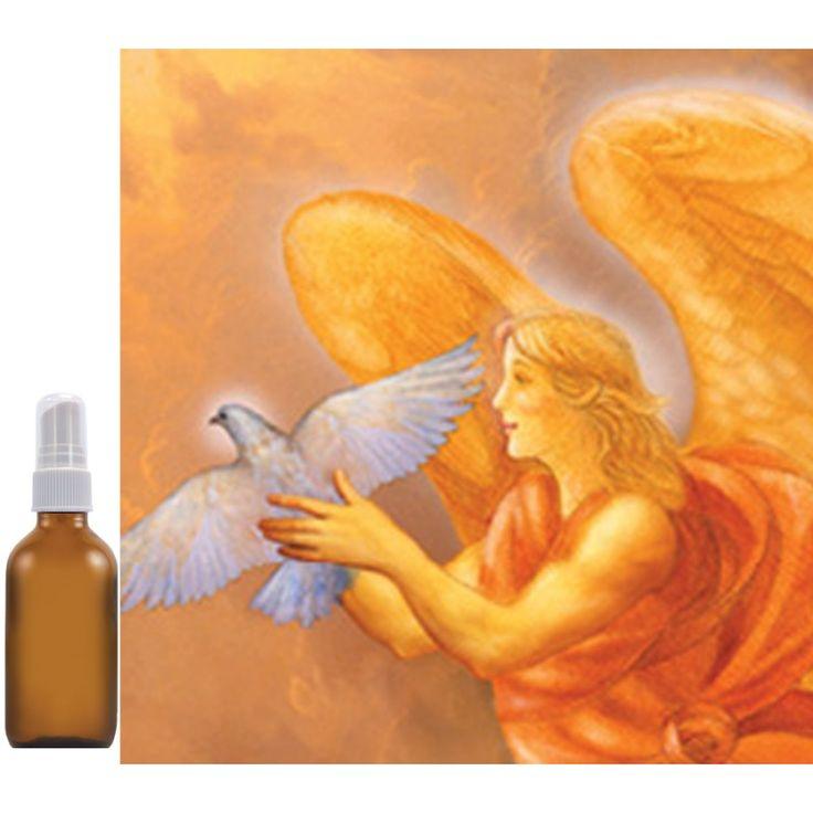 """Aura- & huisspray Aartsengel Samuël """"VREDE"""" Gember, basilicum, zwarte peper. Reinig je huis, je aura en de energie van anderen met deze fris-geurende auraspray geïnspireerd door de kracht van aartsengel Samuël: vrede, veiligheid en verbinding. Met natuurzuivere etherische olie. 100 ml in glazen fles met verstuiver."""