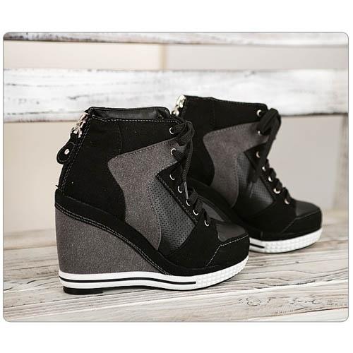 basket femme montante noire lacets high top sneakers fashion mode 2012 2013 ref11.jpg
