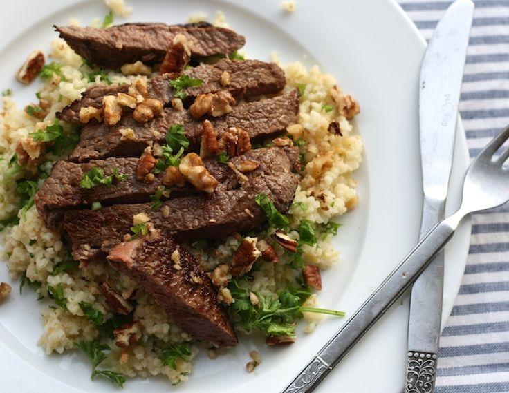 5 or less: Bulgur met beef en pecannoten