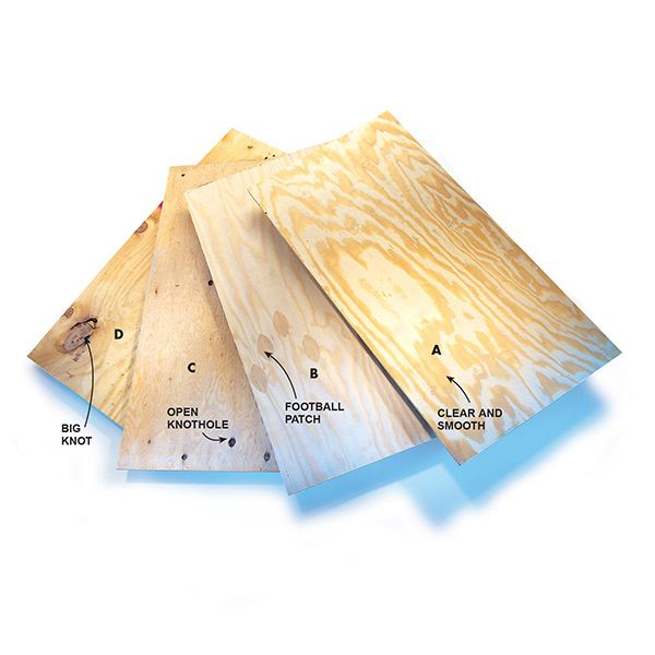 We take the mystery out of the plywood grading system and show you what you will get in each grade. The higher the grade the better quality you should expect.