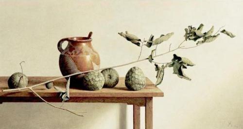 Guillermo Munoz Vera  Still Life With Jar  oil on canvas on panel, 67x123cm