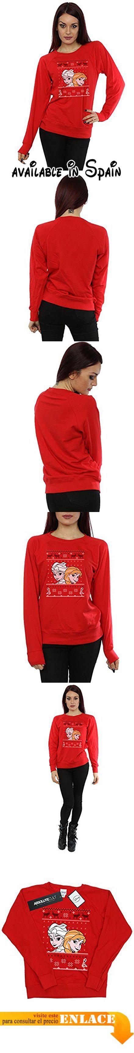 B01NBWT4QH : Disney mujer Frozen Christmas Anna and Elsa Camisa de entrenamiento Small rojo. Con licencia oficial de mercancía con toda la marca de licencia autorizado envasado y etiquetado. 240gsm ligera perfecta de prendas de vestir para el verano o el uso durante todo el año.. De peso ligero de lana sin cepillar mangas raglán y costuras laterales con forma para un ajuste femenino.. Gracias por confirmar su tamaño para evitar decepciones. Nuestro tamaño X-Small es