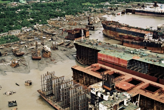 Chittagong Ship Breaking Yard is located in Bangladesh, and is the world's second-largest ship breaking area. The ship breaking takes place in the Fauzdarhat area along the 11 mile Sitakunda coastal strip, 12 miles north-west of Chittagong. (V)
