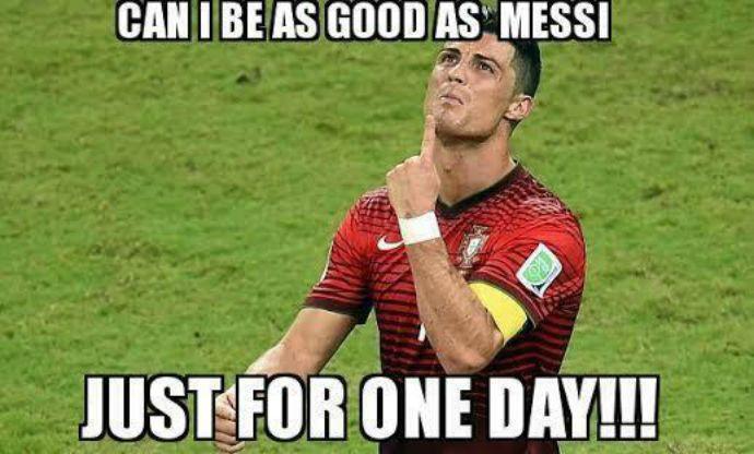 """""""Posso ser tão bom quanto Messi só por um dia!!!"""""""