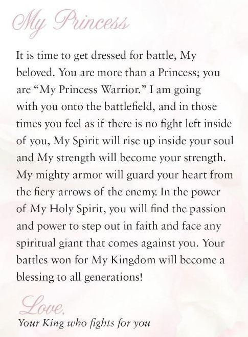 I realized a year ago that I would rather be a warrior then a princess but this is kinda perfect