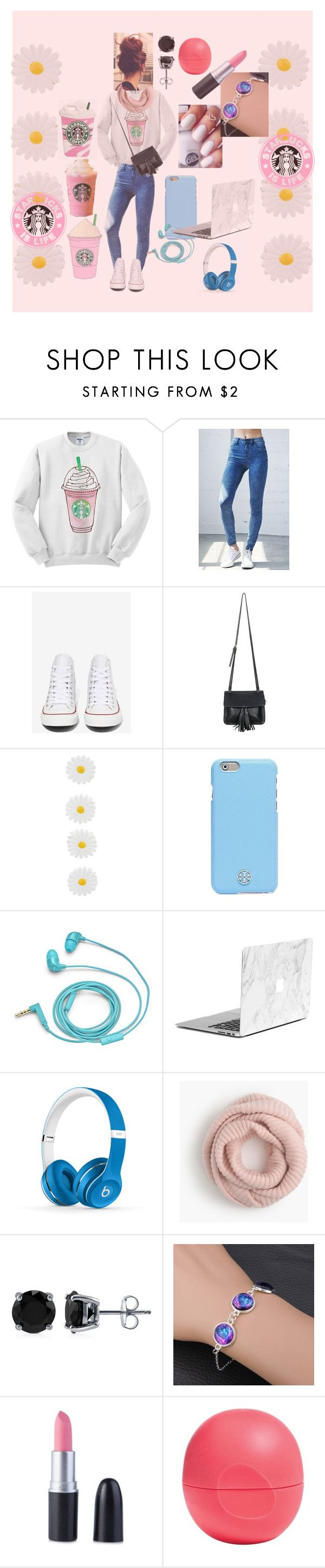 """""""Actually family is life"""" by miaaa08 ❤ liked on Polyvore featuring Bullhead Denim Co., Converse, Chicnova Fashion, Accessorize, Tory Burch, FOSSIL, Beats by Dr. Dre, J.Crew, BERRICLE and Eos"""