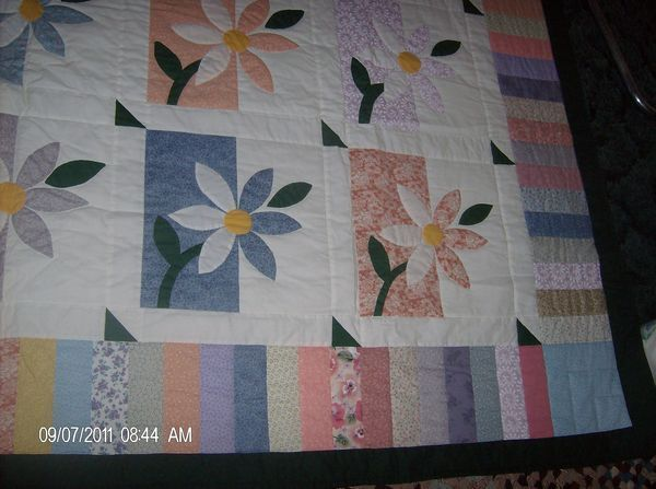 Shadow Daisy Quilt Pattern Found On Quiltingboard Com