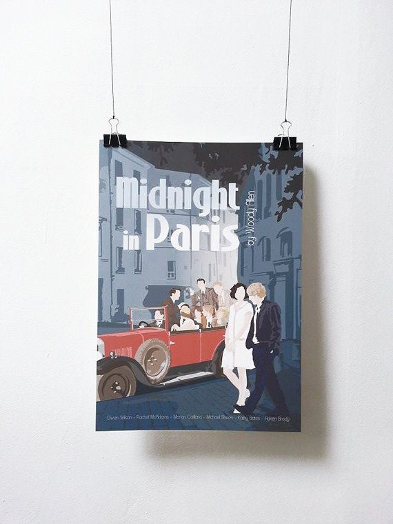 Affiche de film Midnight in Paris - Poster Woody Allen A3 Print Illustration by Minuscule Motion Sold on Etsy