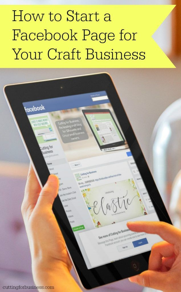 Silhouette Cameo or Cricut Crafters: How to Create a Facebook Page for your Craft Business - by cuttingforbusiness.com