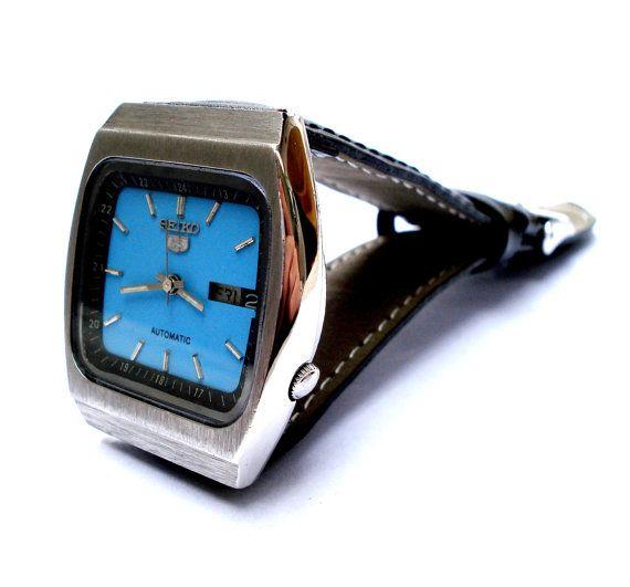 Vintage Reloj SEIKO 5 Automatico Japon Doble por shopvintage1