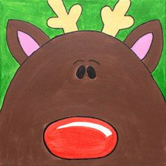 Social Artworking Canvas Painting Design - Design-a-Reindeer