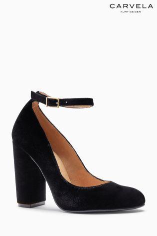 Черные бархатные туфли Mary Jane Carvela Adonis - Покупайте прямо сейчас на…