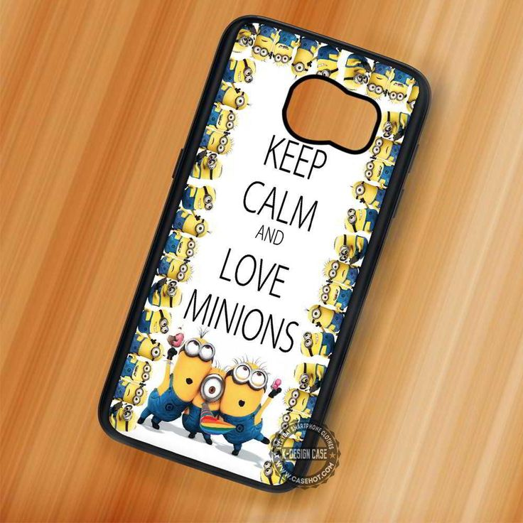 Keep Calm Minion Quote - Samsung Galaxy S7 S6 S5 Note 7 Cases & Covers