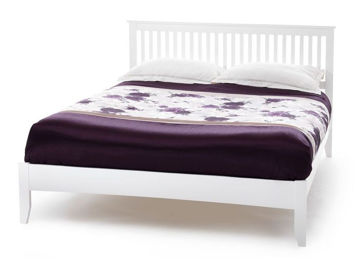 freyanne opal white double bed frame