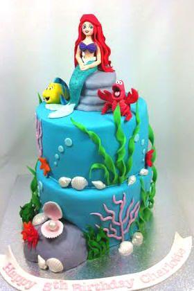 Mermaid Ariel underwater Birthday Cake by www.carryscakes.com.au