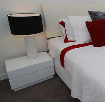 Contempo Bedside Table - Available in 3 Colours   Complete Pad