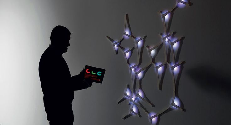 At the 8th biennale internationale design saint-etienne event French studio NoDesign showcased WaElice, a 3D printed interactive modular wall-lamp.