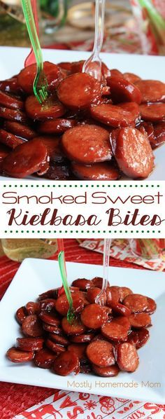 Sliced smoked kielbasa sausage glazed with ginger ale, brown sugar, and barbecue sauce. The perfect appetizer for Christmas, New Year's, or just at home with the family!
