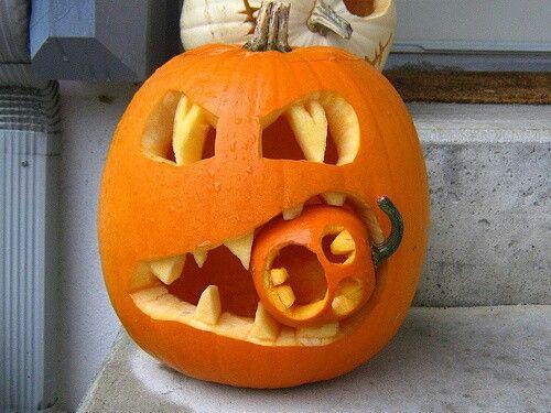 Pumpkin carving cannibal