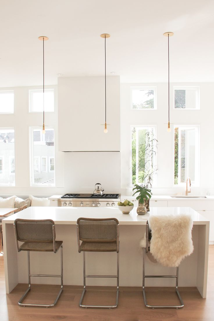 counter chairs...modern-rustic-kitchen-white