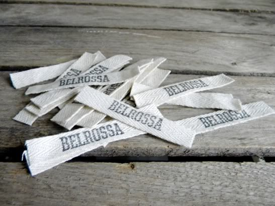 Recycle that stamp pad for making fabric labels for your for Custom tags for crafts