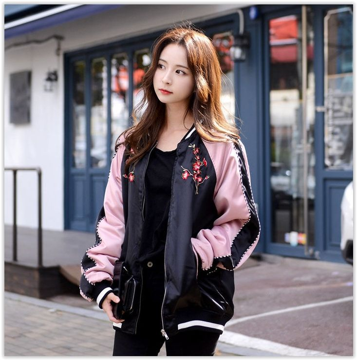 Deepny flower embroidered flight jacket yesstyle i korean fashion pinterest Yes style japanese fashion