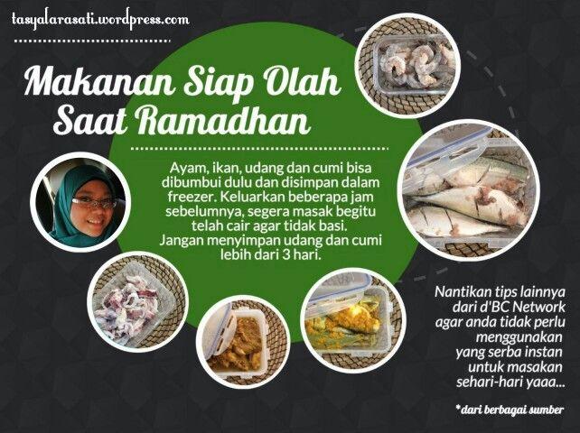 Makanan siap olah saat ramadhan #TipsRamadhan