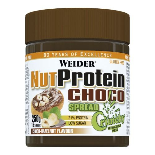 Delicioushazelnut and cocoa spread with high quality whey protein, ideal for all kinds of diets.Staying fit and slim has never been so easy and so tasty!