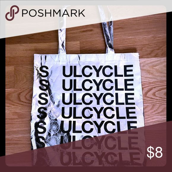 SOULCYCLE Silver Tote Bag Reusable Silver tote bag is perfect for storing your cycling gear! Excellent condition! soulcycle Bags Totes