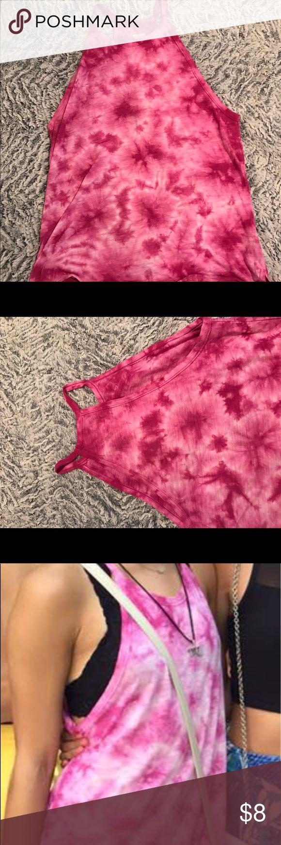 Pink Tie-Dye Razorback Tank size medium tie dye pink razorback tank Mossimo Supply Co. Tops Tank Tops