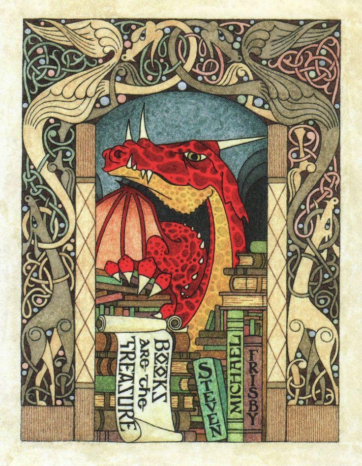 Frisby Dragon Bookplate by Daniel Mitsui