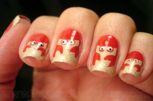 Half moon crabby nails :). I think I just died and went to heaven!